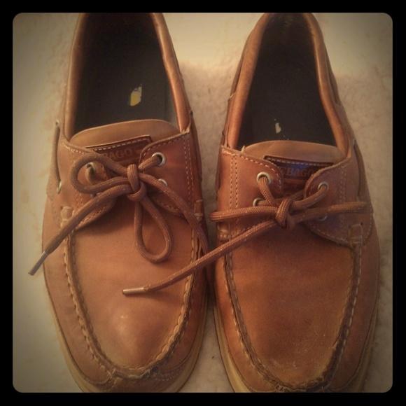 Sebago Portland Ranger Mens Brown Leather Boat Deck Shoes Size 8-12